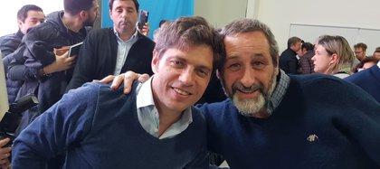 Pablo Torres, intendente de Laprida junto al gobernador Axel Kicillof