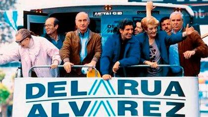 Durante la campaña que llevó a la presidencia a Fernando de la Rúa.