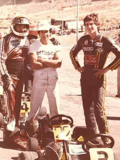 Senna en el Sudamericano de Karting de 1979 en San Juan. Corrió con el número 22. (Archivo Henry Martin)