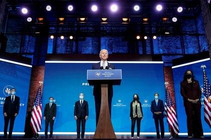 El equipo para la Seguridad nacional de Joe Biden.  REUTERS/Joshua Roberts