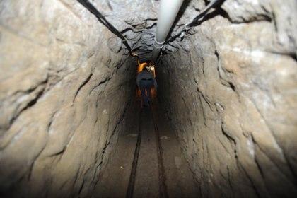 """El túnel por el cual el narcotraficante Joaquín Guzmán Loera """"El Chapo"""" huyó de su celda en el penal de máxima de seguridad del Altiplano. El boquete mide kilómetro y medio de largo.  (Foto: Armando Monroy/Cuartoscuro)"""