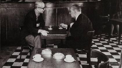 Ernesto Sabato y Jorge Luis Borges (Revista Gente)