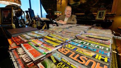 Flynt fue creador de la revista Hustler (Photo by MARK RALSTON / AFP)