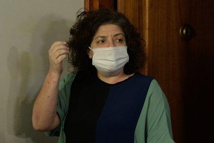 """""""De ninguna manera funcionaba un vacunatorio VIP, no VIP, en el Ministerio (de Salud). Esta fue realmente una situación puntual y excepcional"""", dijo Vizzotti en declaraciones radiales. EFE/POOL/Juan Mabromata/Archivo"""