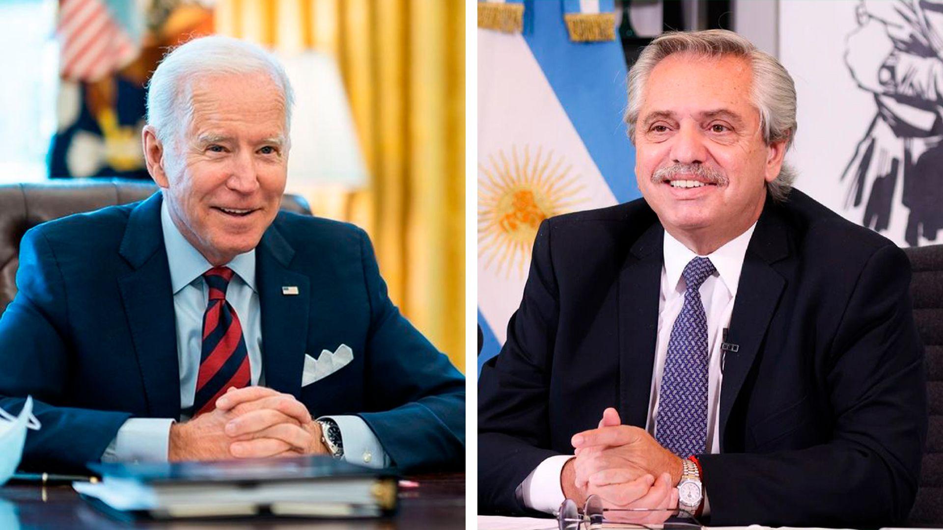 Partida Alberto Fernandez y Joe Biden