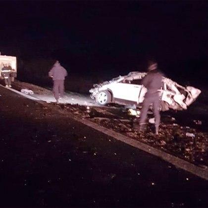 El estado del auto luego del accidente