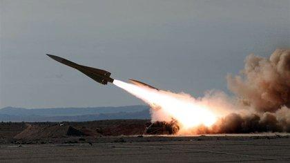 Misil antiaéreo de Irán. (Foto archivo)