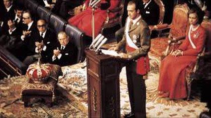 Coronación de Juan Carlos I como rey de España 22 de noviembre de 1975