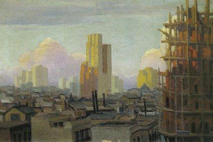 Avenida Ingeniero Huergo e Independencia, 1917. Óleo sobre tela, 72 x 85 cm, en Galería Zurbarán
