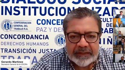 Gerardo Martínez, titular de la UOCRA