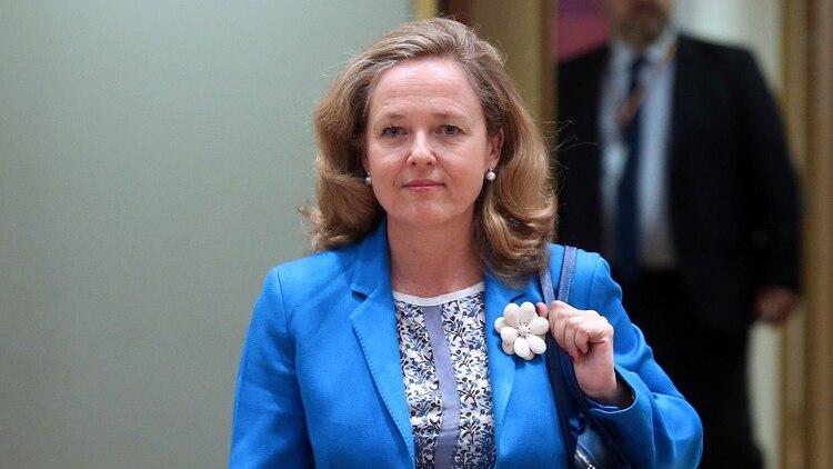 Nadia Calviño, ministra de Economía de España (François WALSCHAERTS / AFP)