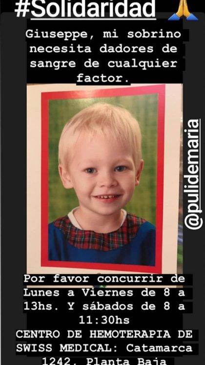El pedido de Puli, por su sobrino Giuseppe (Instagram)