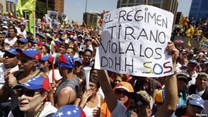 La oposición venezolana reclama la liberación de los presos políticos