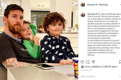 El mensaje de Lionel Messi