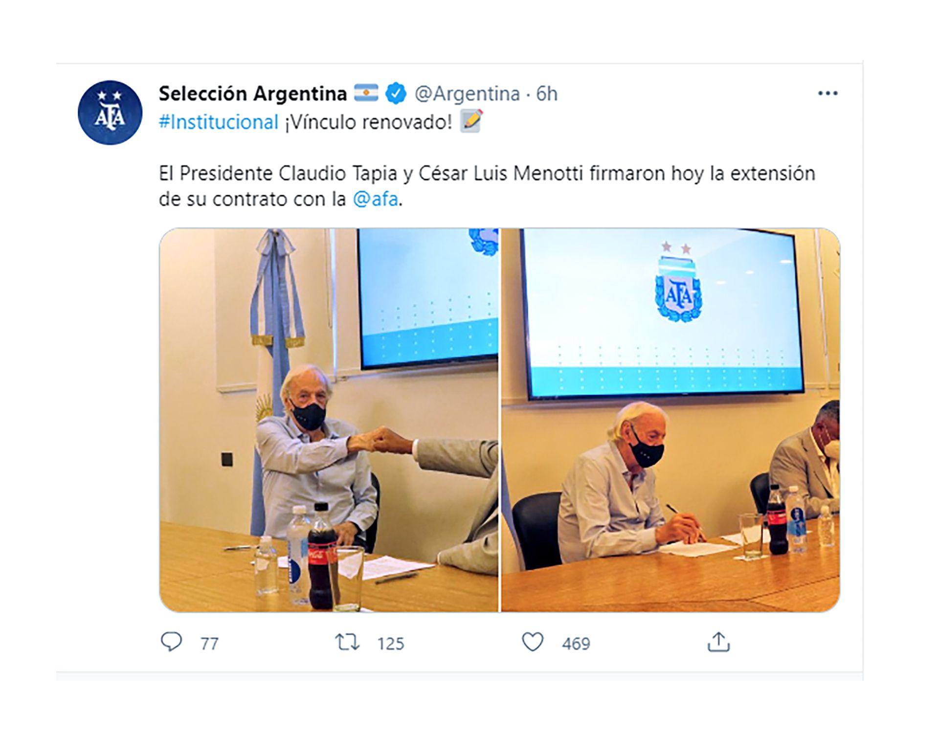 César Menotti renovó con AFA