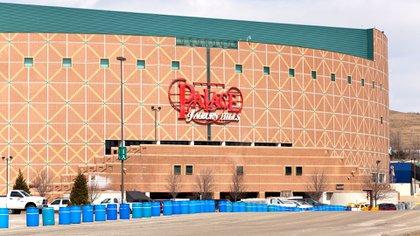 The Palace of Auburn Hills, la antigua cancha de Detroit Pistons. En ese estacionamiento fue donde Rodman pensó en quitarse la vida