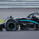 Formula One F1 - British Grand Prix - Silverstone Circuit, Silverstone, Britain - August 2, 2020 Mercedes' Lewis Hamilton with a puncture on the last lap during the race Pool via REUTERS/Andrew Boyers TPX IMAGES OF THE DAY