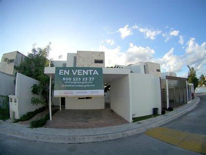 Casa ubicada en Bahía Cancún a puesta a la venta por el Indep (Foto: INDEP)