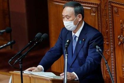 El Primer Ministro japonés Yoshihide Suga en Tokio, Japón, el 26 de octubre de 2020. REUTERS/Kim Kyung-Hoon