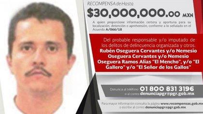 """""""El Mencho"""", fundador del CJNG es uno de los hombres más buscados en Estados Unidos y México (Foto: especial)"""