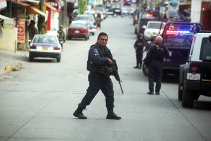 Un par de hombres fueron asesinados a balazos la tarde del 11 de septiembre en la calle 10 de abril de la colonia Las Granjas de Cuernavaca, Morelos. (Foto: Cuartoscuro)
