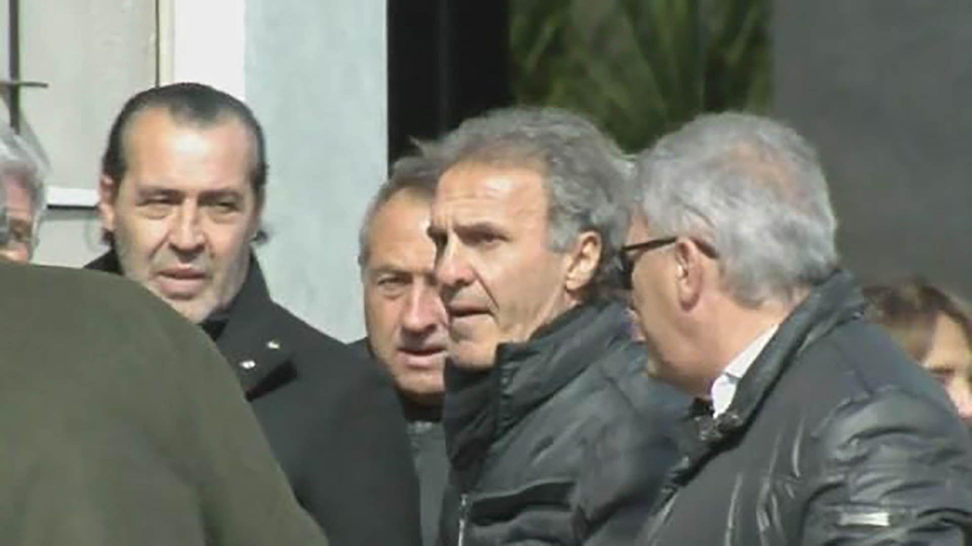 Ruggeri estuvo presente junto a sus ex compañeros en el velorio del Tata Brown