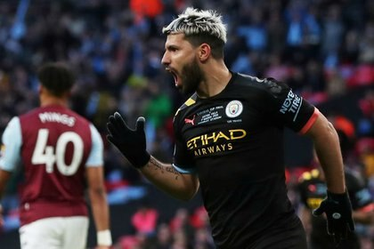 Sergio Agüero es el extranjero con más goles en la historia de la Premier League (Reuters)