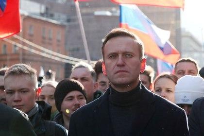 Imagen de archivo de Alexei Navalny durante la marcha por el quinto aniversario del asesinato del opositor Boris Nemtsov, en Moscú, Rusia. 29 de febrero de 2020. REUTERS/Shamil Zhumatov/Archivo