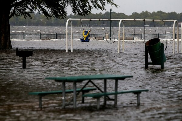 Inundación causada por elhuracán Florence enNew Bern,Carolina del Norte (REUTERS/Eduardo Munoz)