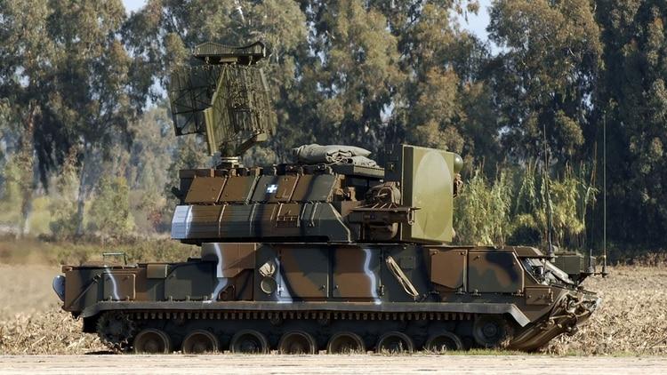 Un lanzador de misiles antiaéreos Tor-M1