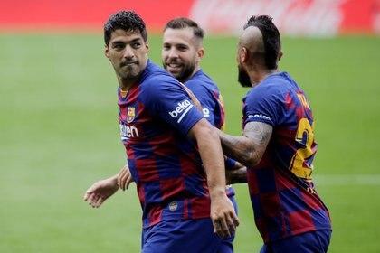 Suárez metió dos goles contra el Celta - REUTERS/Miguel Vidal