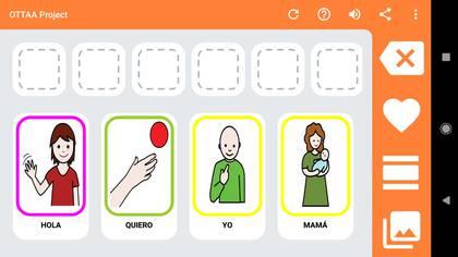 OTTA Project está basado en pictogramas digitales.