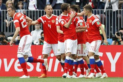 Rusia alcanzó los cuartos de final en el último Mundial (AP Photo/Antonio Calanni)
