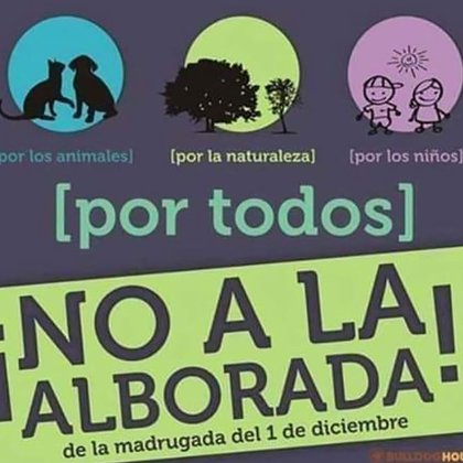 Todos los años organizaciones animalistas protestan por la realización de la alborada que perturba el bienestar dela fauna y flora de la ciudad.