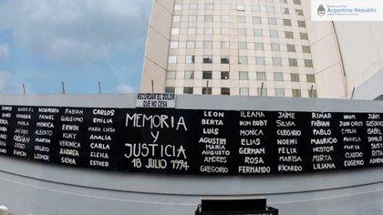 Los nombres de las víctimas
