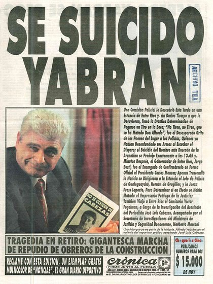 La noticia llegó a la portada de los principales diarios del país