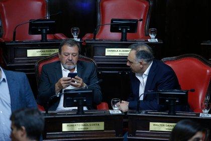 El jefe del bloque de senadores de Juntos por el Cambio, Roberto Costa (Santiago Salva)