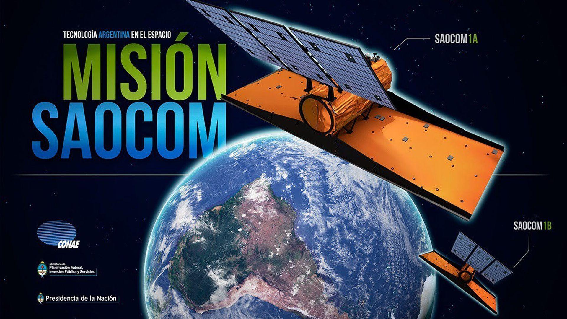 El Saocom 1A y el 1B son satélites de órbita baja para la observación terrestre con fines científicos