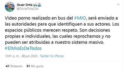 Declaraciones del presidente de Metrocali