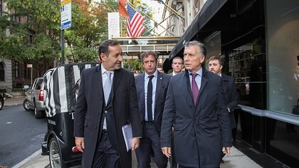 Fulvio Pompeojunto a Mauricio Macri