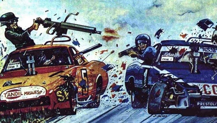 El duelo Mouras vs. Castellano desde la óptica del ilustrador José Olmo (Gentileza José Olmo).