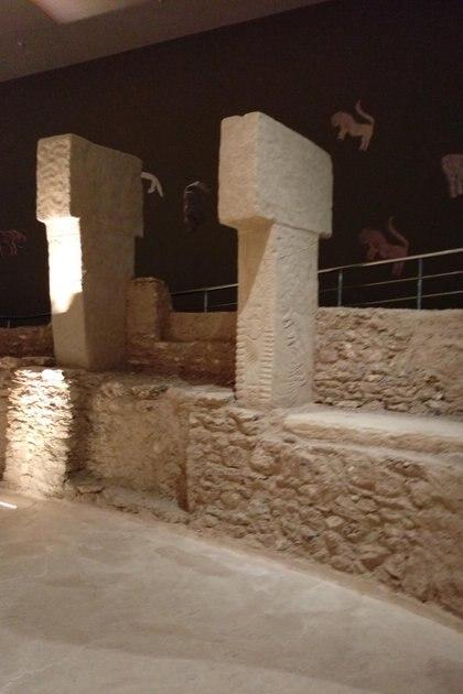 Pilares en T en el Museo de Arqueología