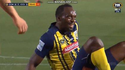 Usain Bolt jugó 20 minutos