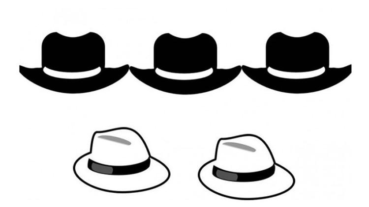 El enigma de los sombreros  ¿sos capaz de resolver este acertijo ... 1c4ed044acc