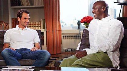 El día que Federer conoció a Jordan en un comercial de ropa