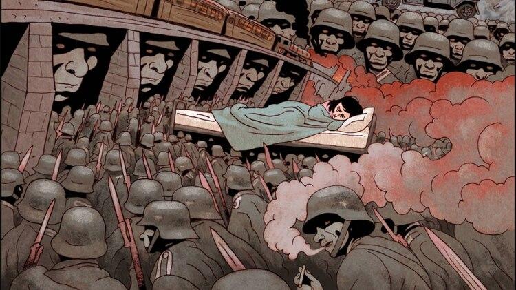 viñeta de la novela gráfica 'El diario de Ana Frank', de Ari Folman y David Polonsky