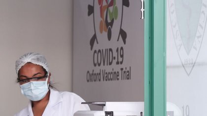 Una empleada del centro de inmunobiología CRIE de la Universidad Federal de Sao Paulo procesa datos de un ensayo en Brasil sobre una vacuna contra el COVID-19 desarrollada por la Universidad de Oxford y La farmacéutica AstraZeneca. FOTO DE ARCHIVO. Junio 24, 2020. REUTERS/Amanda Perobelli