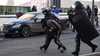 Las protestas son para exigir la liberación de Navalny (Pavel KOROLYOV / AFP)