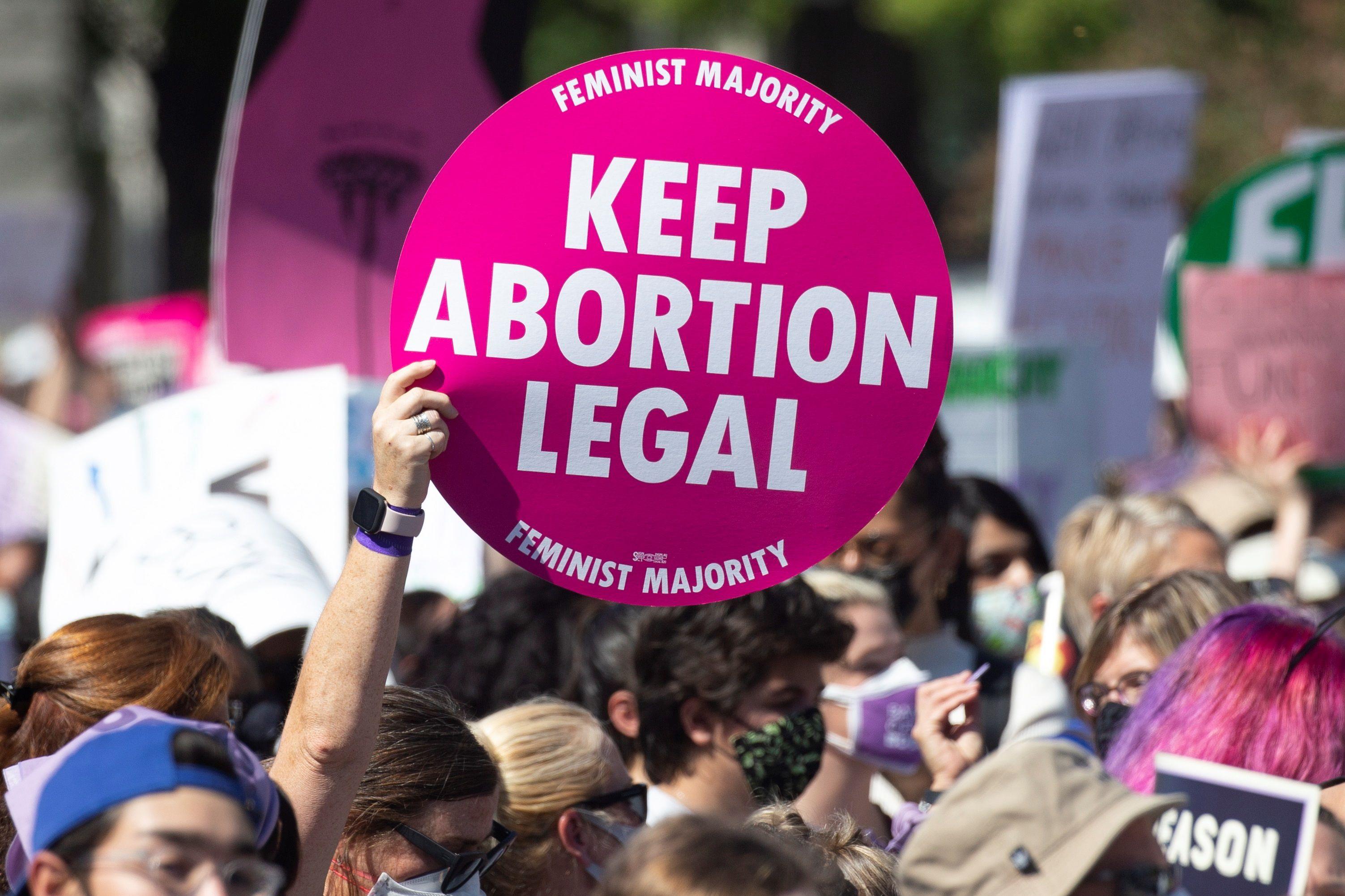 Vista de una marcha en favor del aborto en Washington (Foto: EFE/Michael Reynolds)