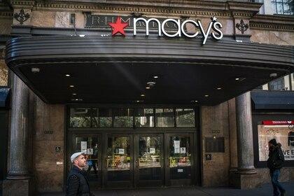 Una tienda cerrada de Macy's en Nueva York (AFP)